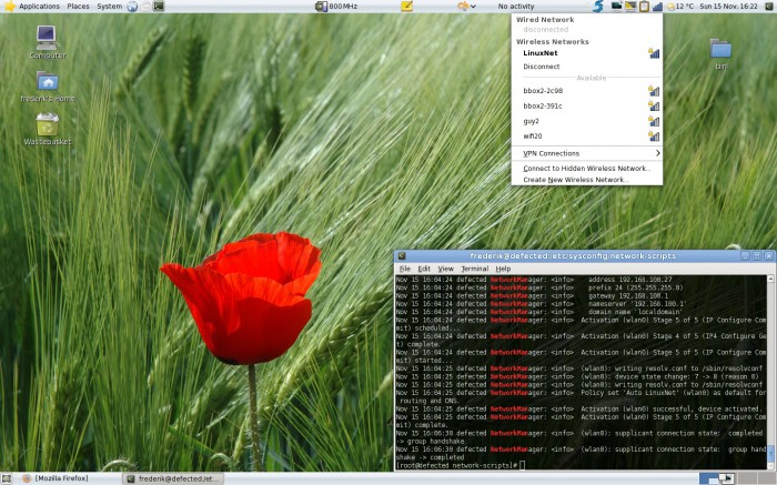 NetworkManager's applet in Mandriva 2010.0